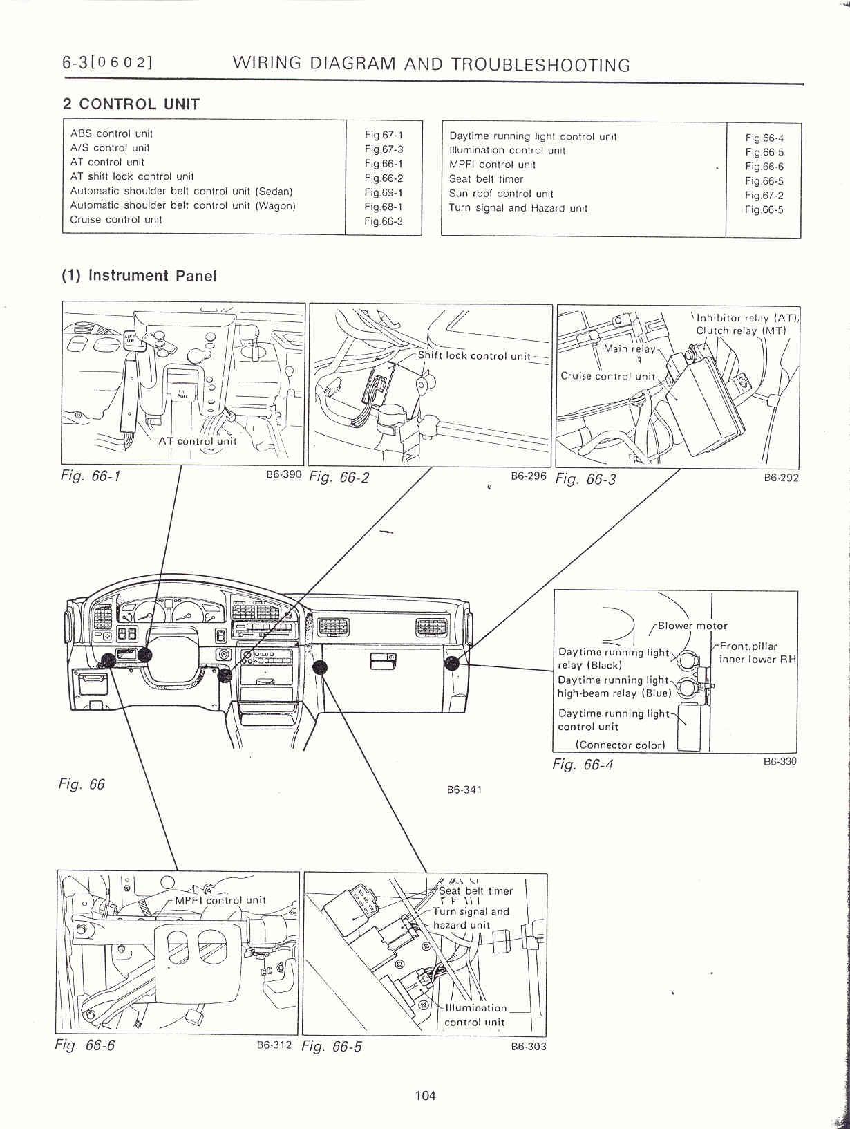 Electrical Unit Location on Subaru Legacy Wiring Harness Diagram